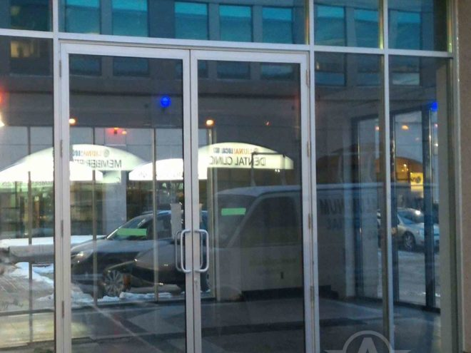 Entrance door Commercial Showroom Toronto